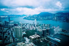 Panorama in Blue (min') Tags: sky hong kong 100 hkg gr1v sky100