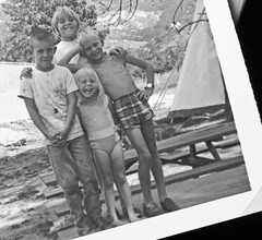 Frozen in time (Pfish44) Tags: camping siblings summertime childhoodmemory frozenintime friendforaday 52weeksofpix