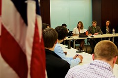 A Group Listens (School of Professional & Extended Studies) Tags: students washingtondc dc speaker alumni expert wsp wpd councilonforeignrelations internationalaffairs washingtonsemesterprogram washingtonsemester