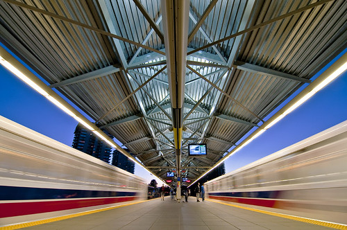 Lougheed Station at Night by petetaylor