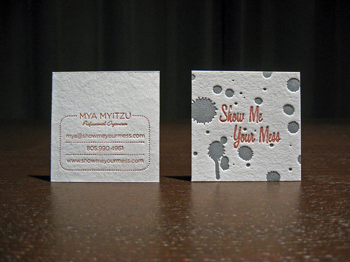 Show Me Your Mess Letterpress Cards