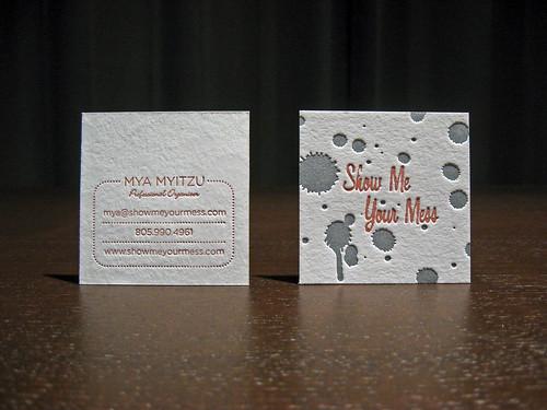 Show Me Your Mess Letterpress Cards