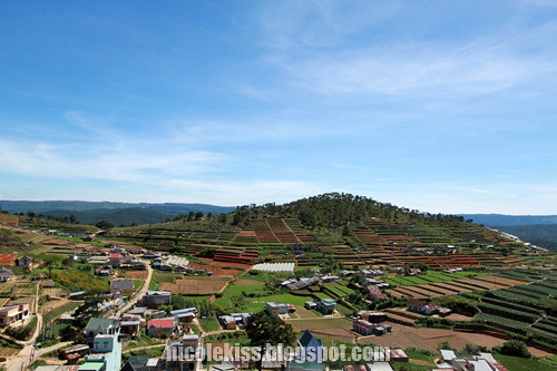 dalat view from pagoda temple