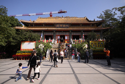 Main hall of the Po Lin Monastery