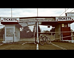 Abandoned drive-in tickets booth () Tags: family summer usa history classic cars abandoned beach childhood bike bicycle rural america vintage fence movie cherry fun tickets stand washington theater antique decay films empty united great retro drivein flashback entertainment 1950s memory americana tacoma states hop lakewood 1970s oldies 1980s goodies cruiser drivethrough concessions highway99 recession southtacomaway stuffwhitepeoplelike 2960s