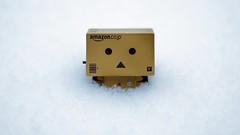 Stuck in snow! (Matthew Huie) Tags: winter snow amazon box cardboard yotsuba danbo