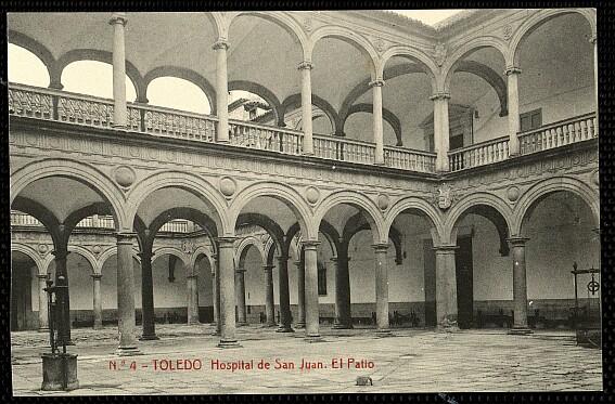 Hospital Tavera a comienzos del siglo XX. Postal de Thomas