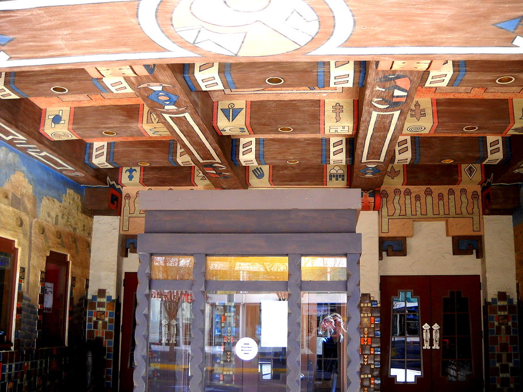 KiMo Theatre, Historic Route 66, 423 Central Avenue Northwest, Albuquerque, NM, built 1927, style: Pueblo Deco