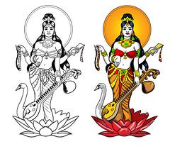 Goddess Saraswati design