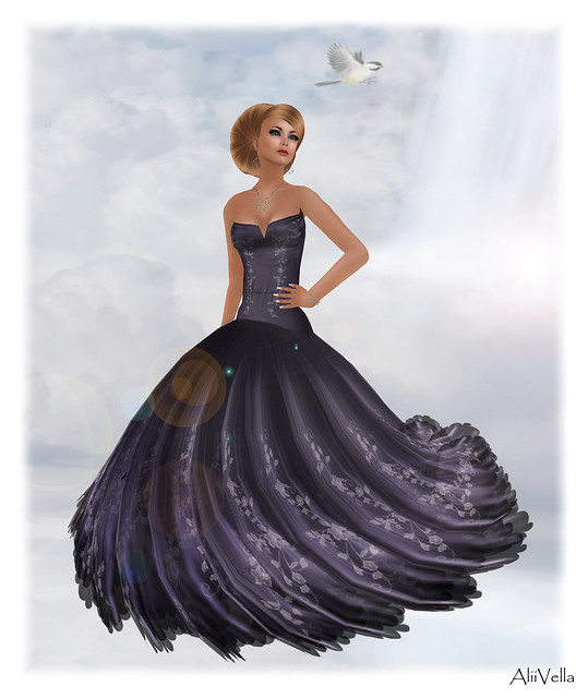 [The Candary] Adrianna Gown - Navy