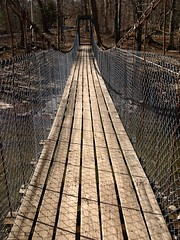 Palenville Swinging Pedestrian Bridge over Kaaterskill Creek, Catskill Mountains, New York (jag9889) Tags: bridge mountain ny newyork creek puente town crossing state suspension footbridge bridges pedestrian ponte pont swinging catskills brcke palenville nys kaaterskill greenecounty kaaterskillcreek