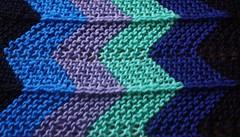 Up close - stripes in blue