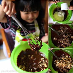 The Making of Snickers Brownies