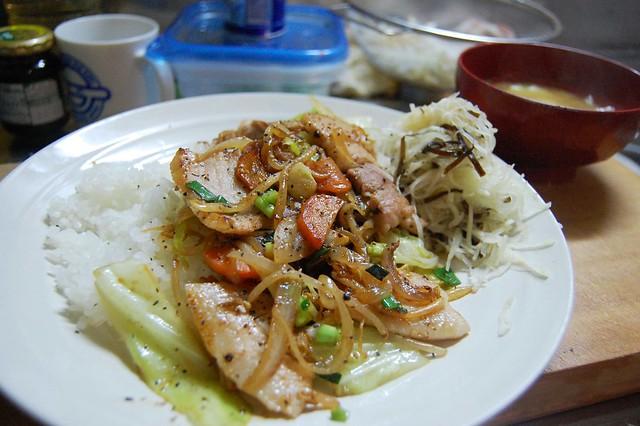 豚バラのスタミナ焼き丼! #jisui