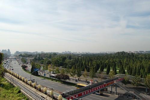 Panoramafoto von der Aussichtsplattform des Perlenmarkts
