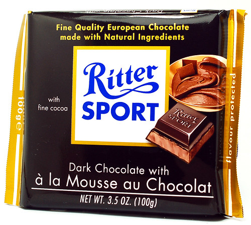 Ritter Sport Dark Chocolate with a la Mousse au Chocolat