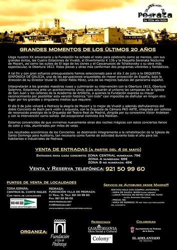 Avance contraportada XX Conciertos de las velas 2011