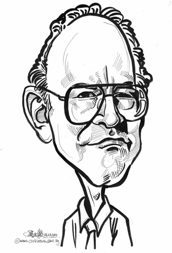 Caricature of Kuhn