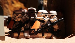 """All right,men. Load your weapons!"" (Blockaderunner) Tags: star bay lego 94 stormtrooper wars docking tatooine sandtrooper"
