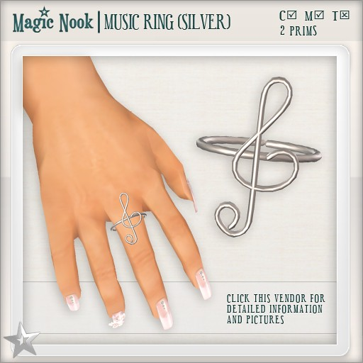 [MAGIC NOOK] Music Ring (Silver)