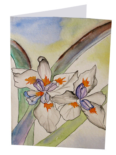 The worlds newest photos by botanical watercolor hand painted hand painted flower notecards white irises handmade greeting card botanical watercolor hand painted greeting cards m4hsunfo