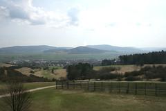 Blick nach Thüringen und auf den Ort Geisa