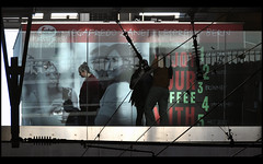enjoy your coffee ... (Dreamer7112) Tags: people silhouette ads advertising schweiz switzerland nikon suisse suiza ad silhouettes advertisement explore trainstation bern shadowplay svizzera advertisements berne coffeebar d300 segafredo nikond300 capitalimpressions enjoyyourcoffee