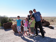 Family photo in Petrified Forest