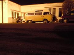 Volkswagen bus (SoulRider.222) Tags: vw night dark volkswagen jeep handheld portlandoregon vwbus sodiumvapordreams volkswagenbus whilewalking 10secondtimer 4811 sooc tensecondtimer timerphoto timerused timeron nikonsooc nikoncoolpixs8000 482011