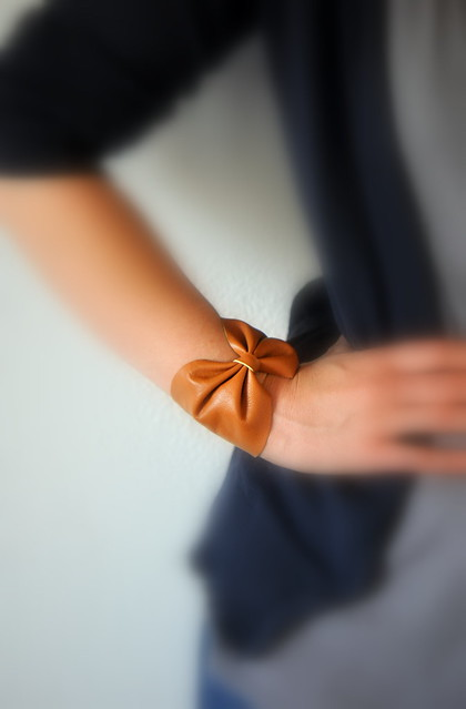 Leather Bow Bracelet - Oh the Lovely Things