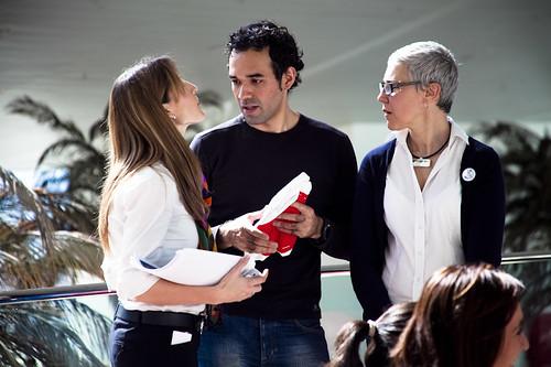 Eddy Lara Brito y María Victoria Rodríguez, organizadores del TBMBCN.