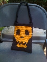Yellow on black skylit bag K hook by c_death_98