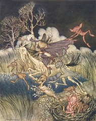 "Arthur Rackham - illustration from ""The Legend of Sleepy Hollow"" (sofi01) Tags: arthurrackham"