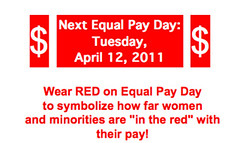 Next Equal Pay Day: Tuesday, April 12, 2011