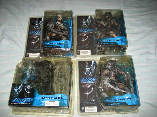 Alien vs Predator Toys by McFarlane