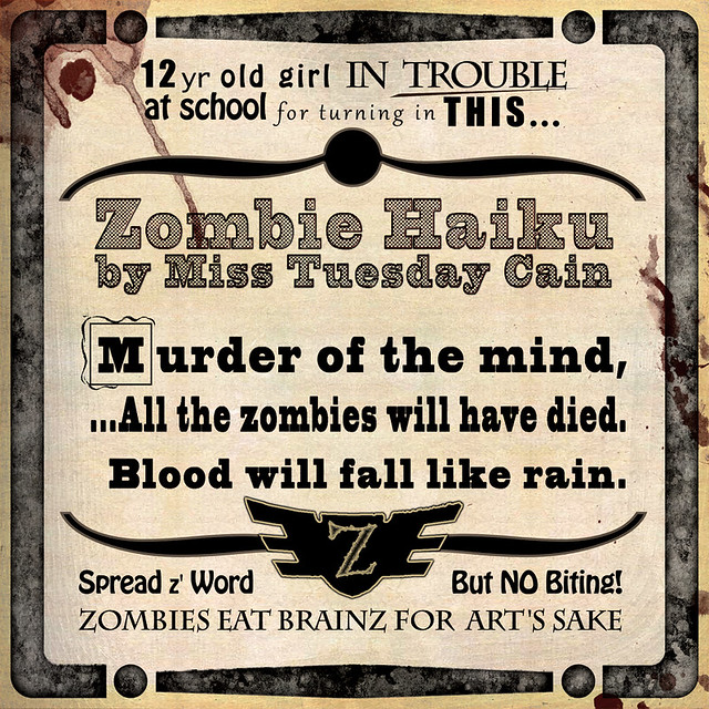 12yr Old Girl's Zombie Haiku