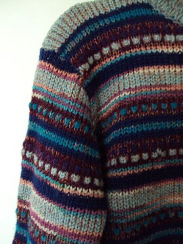 Vintage Silly Striped Sweater (detail)