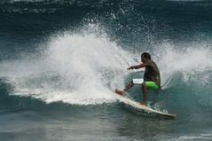 Surfer's moment (m o d e) Tags: ocean light sea summer vacation sun holiday man male interestingness interesting nikon asia surf shoot shot wave lagoon surfing explore maldives mode stunt d300 maale interestiness mashafeeg nikond300