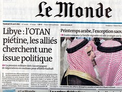 Couverture Le monde 15 avril 2011