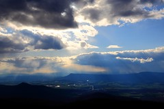 Clouds in the sky over shenandoah