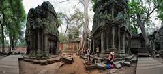 Ta Prohm, Siem Reap, Cambodia (Gaston Batistini) Tags: panorama cambodge cambodia siemreap taprohm stitched panoramique batistini gbatistini canon5dmkii gastonbatistini