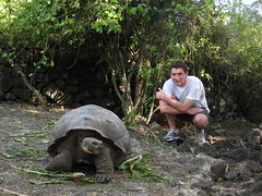 me and giant turtle