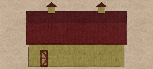30x40 Gambrel barn side