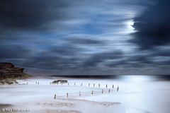 Moon Light (-yury-) Tags: ocean light sea moon seascape beach night landscape sydney wave australia luna fullmoon nsw moonlight cluds maroubra