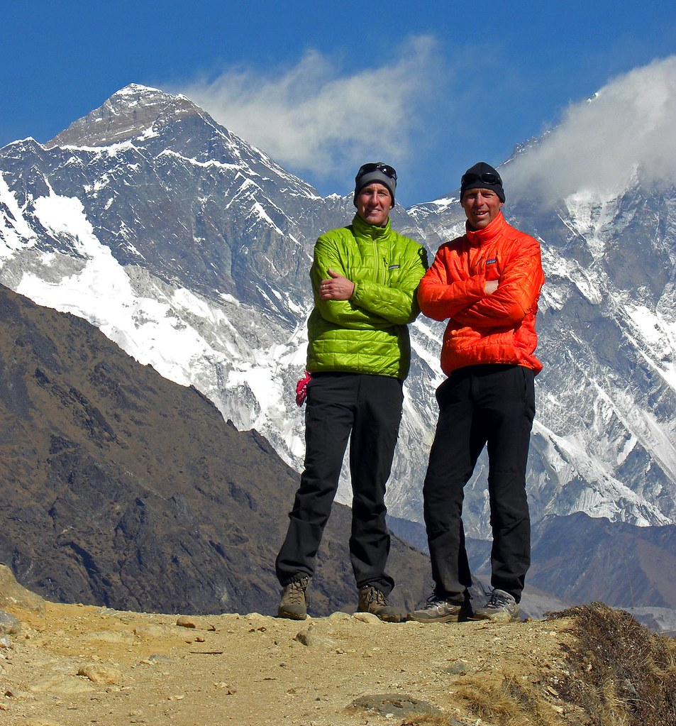 two professors standing in the mountains of nepal