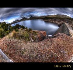 Lake Plimsoll (Sean Savery Photography) Tags: landscape lumix dam australia fisheye panasonic tasmania hdr gf1 photomatix lakeplimsoll topazadjust lumixgfisheye8f35 anthonydam panasoniclumix8mmfisheye seansaveryphotography