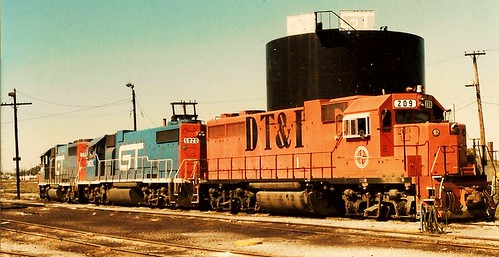 The Grand Trunk Western Railroad Elsdon Yard locomotive terminal. Chicago Illinois USA. October 1983. by Eddie from Chicago