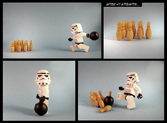Sore loser (designholic*) Tags: toy starwars lego bowling stormtrooper minifig poorloser soreloser lifeonthedeathstar designholic