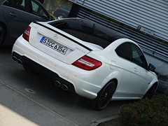 C 63 AMG Coupe (Niklas Emmerich Photography) Tags: white black germany mercedes benz stuttgart c s 63 cc böblingen coupe amg 2011 6354 worldcars affalterbach