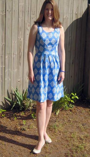 Lisette Dress in Blue